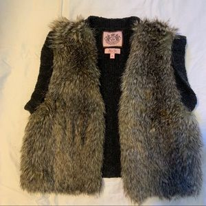 Juicy Couture small grey and fuzzy vest